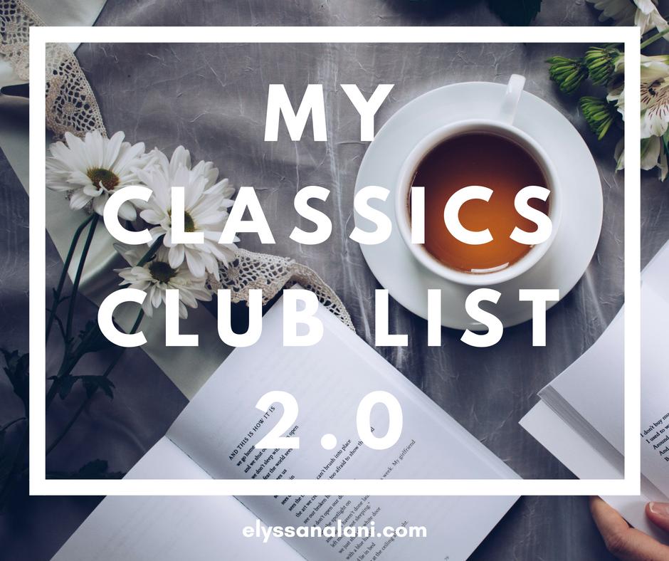 My Classics Club List 2.0