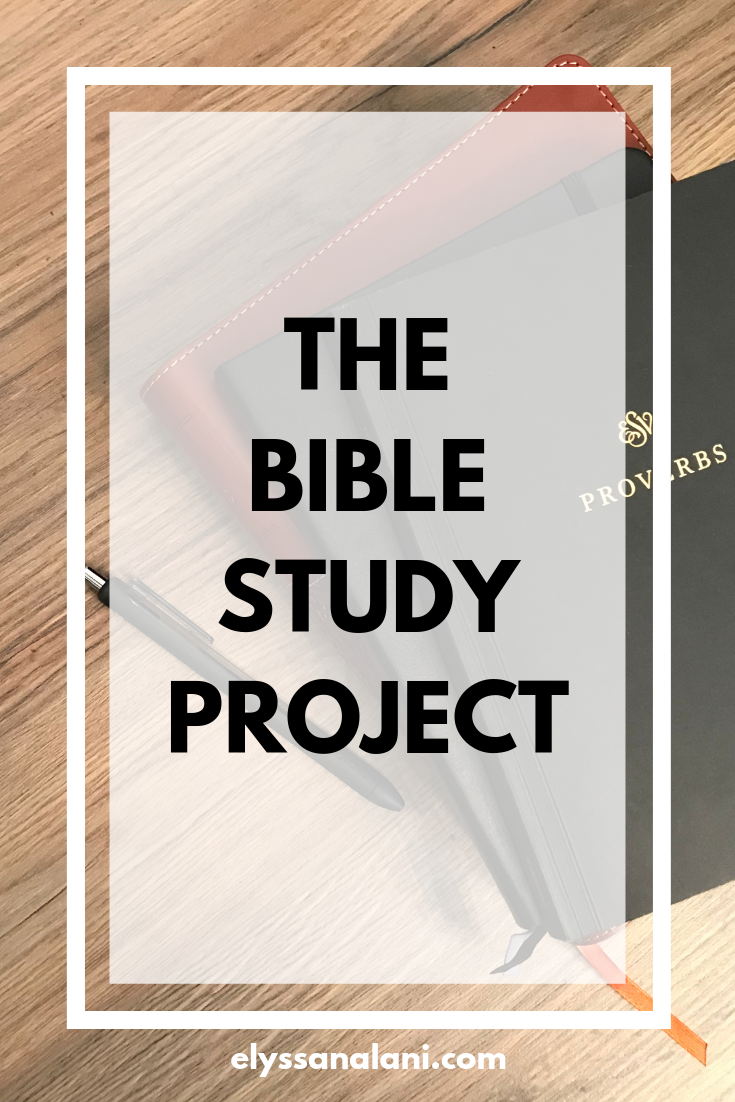 Welcome to the Bible Study Project