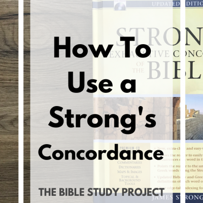 How to Use a Concordance | The Bible Study Project