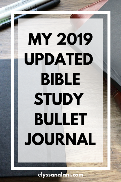 2019 bible study bullet journal