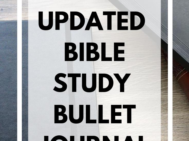 2019 bible study bullet journal