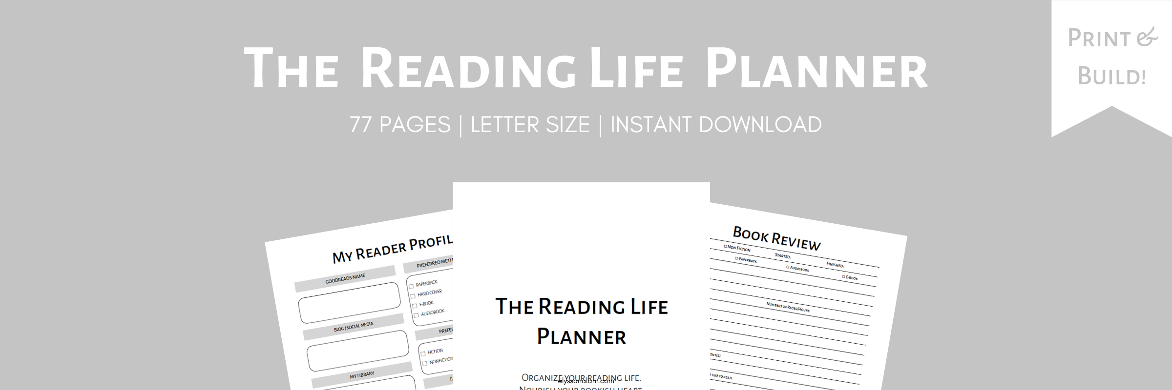 The Reading Life Planner UNDATED WEBSLIDER