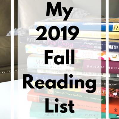 My Fall 2019 Reading List
