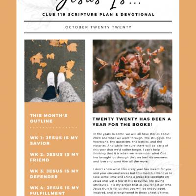 October Scripture Writing Plan – CLUB 119