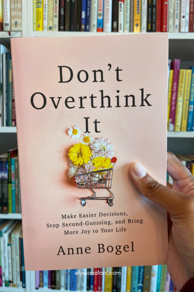 image to buy Don't Overthink It book by Anne Bogel self care