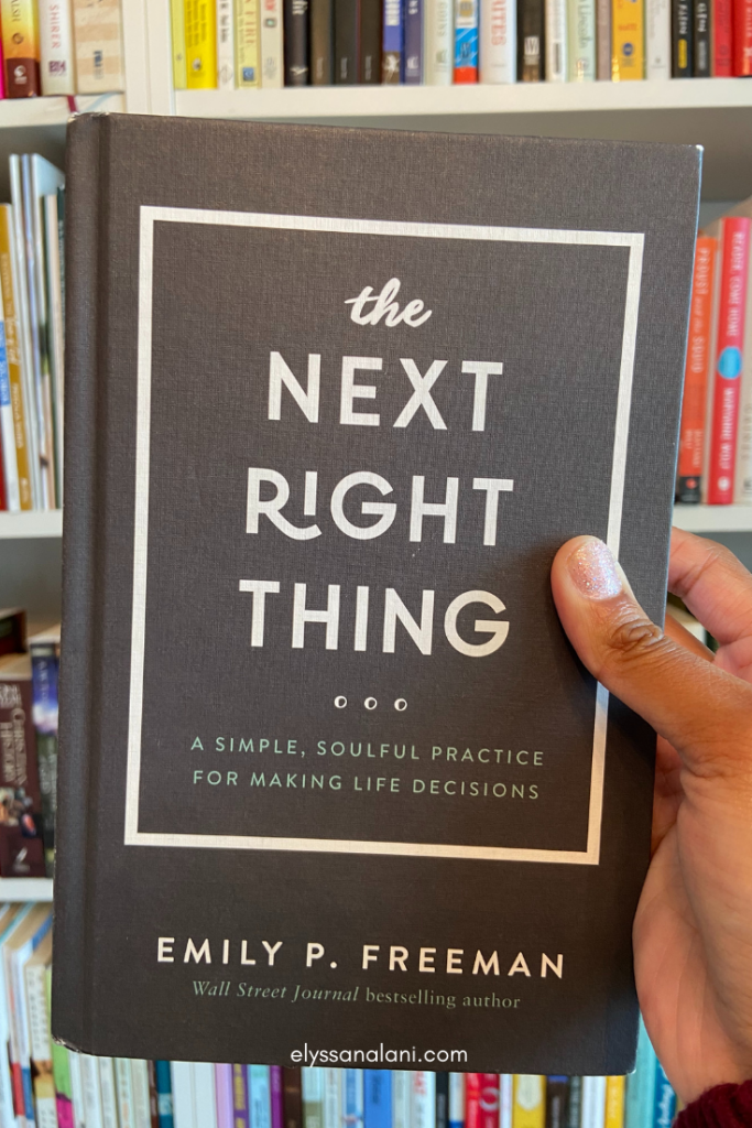image to buy The Next Right Thing book by Emily P. Freeman self care