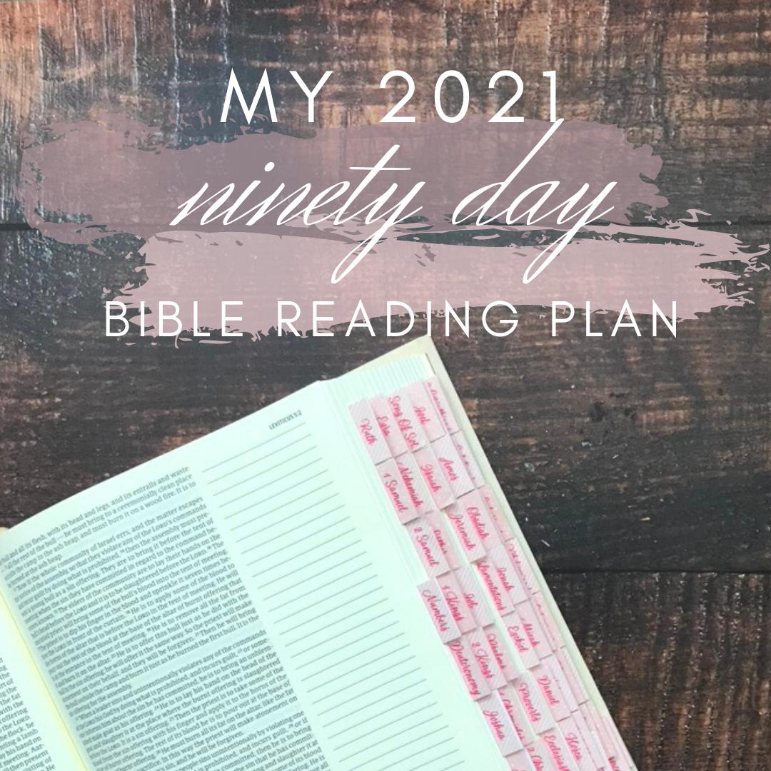 My 2021 90 Day Bible Reading Plan